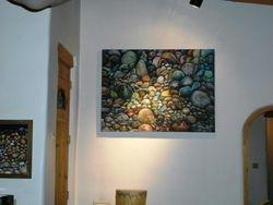 Headstones, Rock Painting by M-J de Mesterton