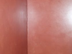 Smooth texture , red color wash