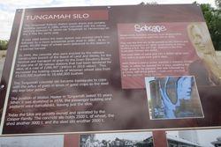 Sign at Tungamah Silo Art