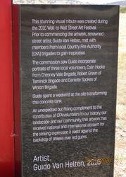 Sign at  Winton Wetlands CFA Water Tank