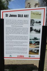 Sign at St James Silo Art