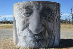 Winton Wetlands CFA Water Tank Art