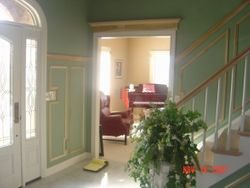 Foyer- Shadow Boxes & Door pediment (before final paint)