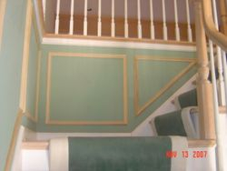 Stair Case with shadow boxes (before final paint)