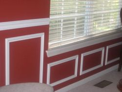 Chair rail & shadow boxes