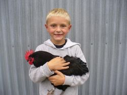 Tate Linton and Jr Champion Bantam