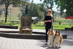 Jordan with Lydia & Spinner at The Dog On The Tuckerbox, Gundagai NSW