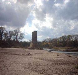 Brazos Rain Road Bridge Remains