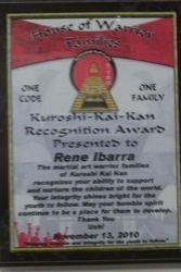 SHIHAN RENE'S AWARD