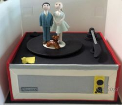 Record Player Wedding