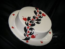 The Heart Road Engagement Cake