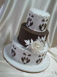 Dark & White Chocolate Wedding Cake