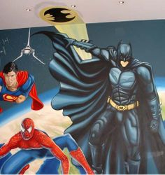 Superheros Mural