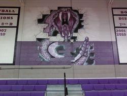 Rattlesnake Mural with Banner