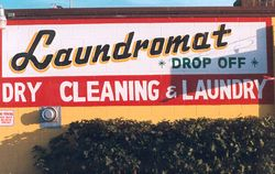 Hand painted sign / Laundromat