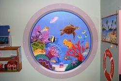 Oval  underwater Sea Turtle