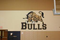 Bull Mascot Mural