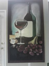 Wine and dine mural