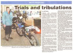 Article in Adelaide Hills Courier - Page 1