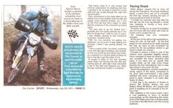 Article in Adelaide Hills Courier - Page 2