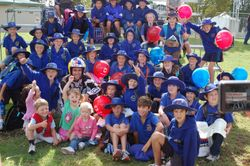 Adrian with children from Penola Primary School