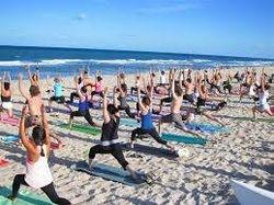 Beach yoga day