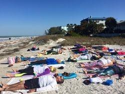 Sun shining down yoga