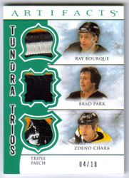 2012-13 Artifacts Tundra Trios Green Triple Patch TT3-CBP /Bourque/Park /18