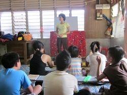 Miss Vani leading devotion Jun 2011