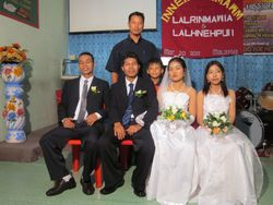 Newly couples and Manghaka and son