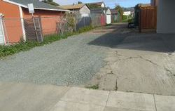Installed gravel