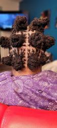Locs attached and separated
