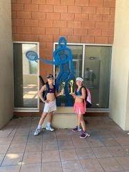 Evelina & Violetta 2nd place 10s doubles