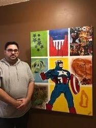 Custom Captain America Painting