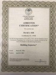 CDPHE Bldg Insp certificate