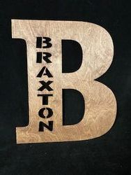 "Approximately 11 1/2"" x 11 1/2"" Lighted Letter"