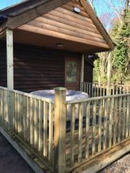 Enclosed veranda in the cabin's private garden