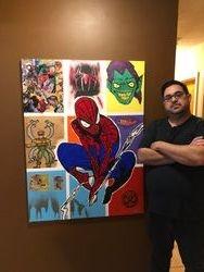 Custom Spider- Man Painting