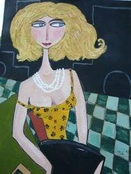 Dame mit blonden Haaren