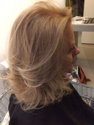 Highlights and cut and blow dry