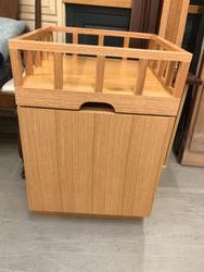 under bar with pull out top piece-Red Oak