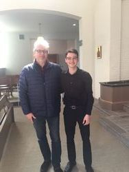 With Dani after his solo Recital, May 2018.