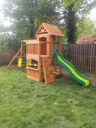 Backyard discovery Atlantis swing set assembly in leesburg Virginia