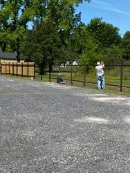 Fence in progress at women's home