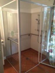 New Shower with Easy Access Door