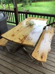 Live edge picnic table