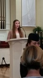 Maia Osborne sings the National Anthem