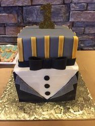 1st Birthday Tuxedo Cake
