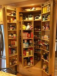 Pantry door racks and swing out