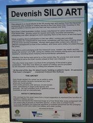 Sign at Devenish Silo Art